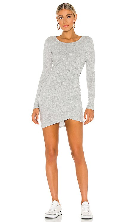 Supreme Jersey Ruched Bodycon Dress Bobi $62 NEW