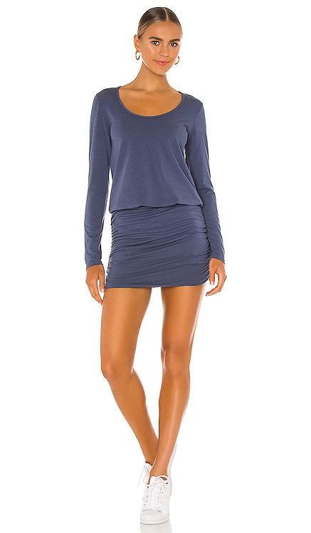 Draped Modal Jersey Long Sleeve Dress Bobi $79 NEW