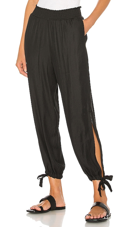 BLACK Boho Woven Pant Bobi $97 BEST SELLER