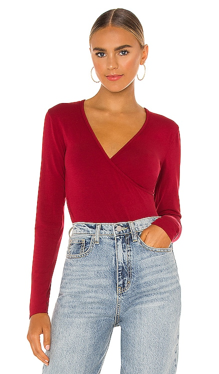 Draped Modal Jersey Bodysuit Bobi $53 NEW