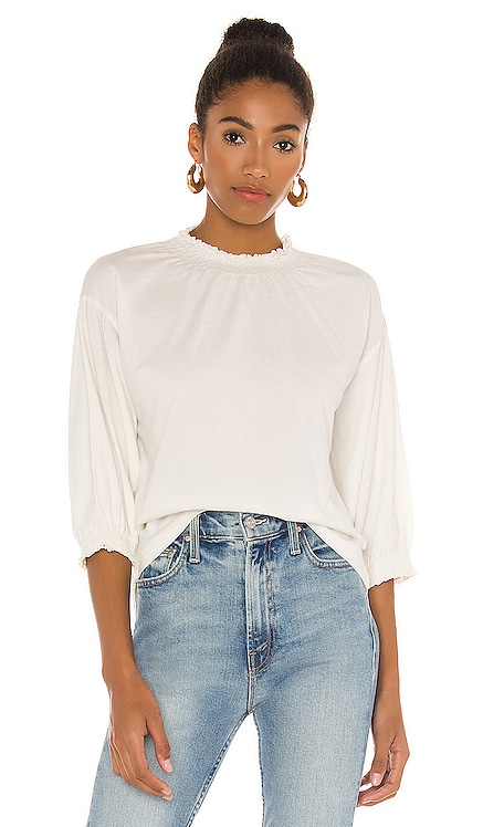 Light Weight Jersey Mock Neck 3/4 Sleeve Top Bobi $70