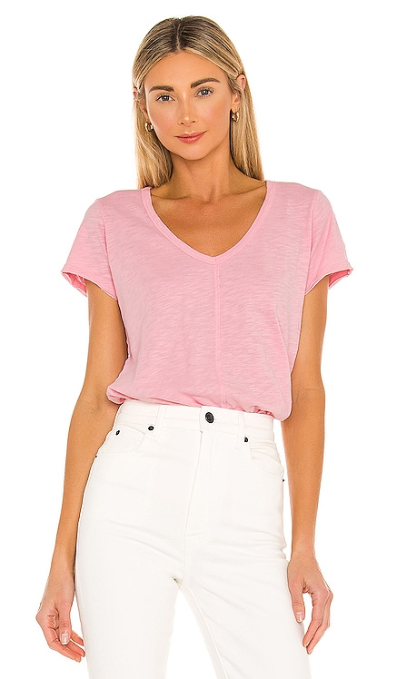 Slubbed Jersey Short Sleeve Top Bobi $44 NUEVO