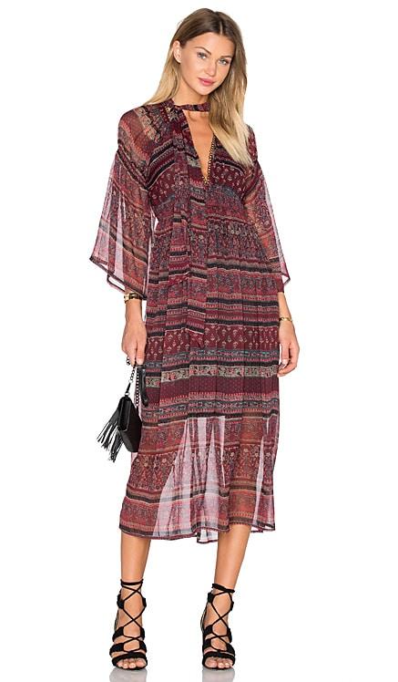 Bastille Midi Dress boemo $95