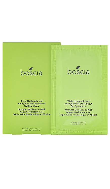 Triple Hyaluronic Honeydew Moisture-Boost Gel Eye Masks 5 Pack boscia $26