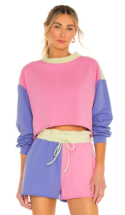 Ava Sweatshirt BEACH RIOT $98 NEW