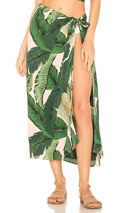x REVOLVE Palm Sarong Cover Up BEACH RIOT $60 BEST SELLER