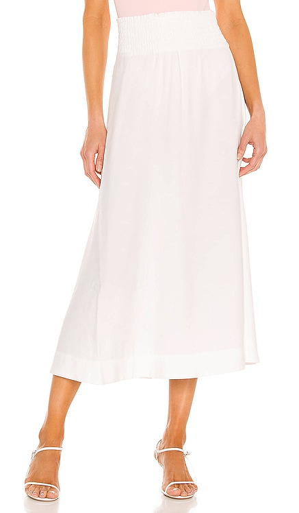 Leda Smocked Skirt Brochu Walker $328 NEW