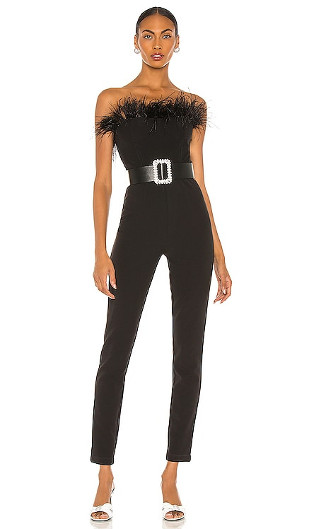 Lola Feather Jumpsuit Bronx and Banco $644