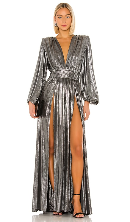 Zoe Silver Gown Bronx and Banco $332