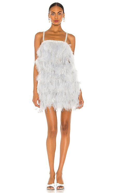 Silver Feather Mini Dress Bronx and Banco $1,200