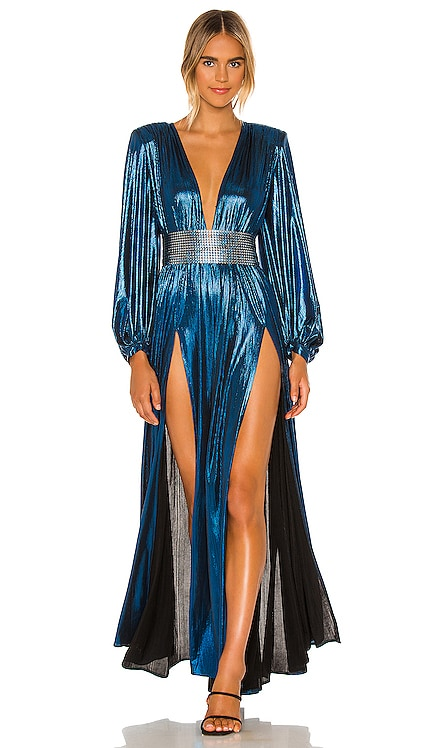 Zoe Topaz Gown Bronx and Banco $550 NEW