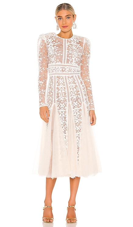 Megan Bridal Midi Dress Bronx and Banco $595 NEW