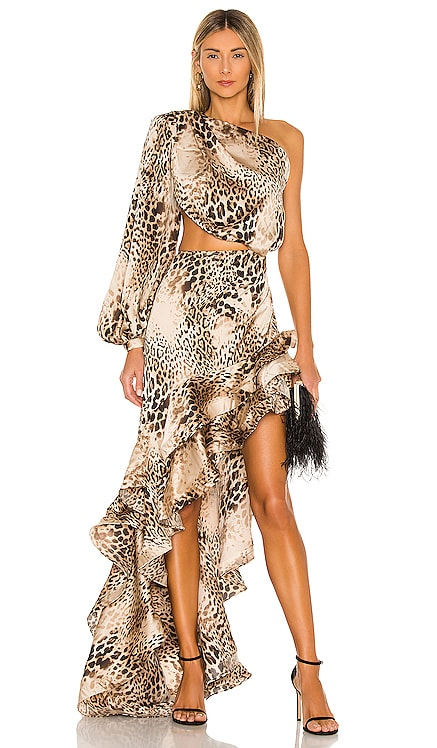 Cheetah Gown Bronx and Banco $795 BEST SELLER