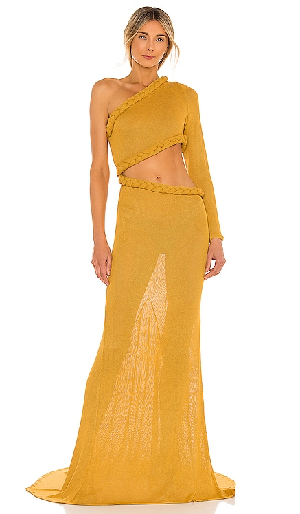 Dalia One Shoulder Knit Dress Bronx and Banco $695