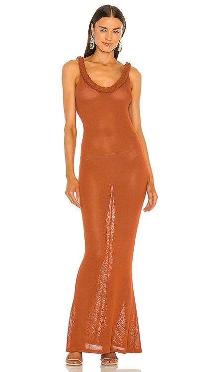 Dalia Backless Knit Dress Bronx and Banco $750 NEW