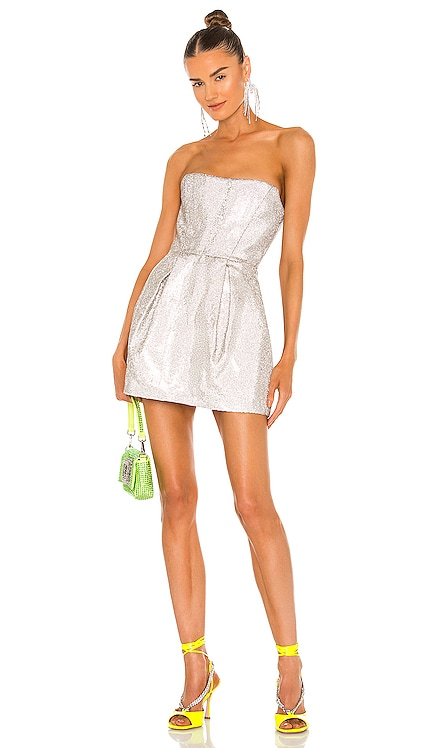 X REVOLVE Corset Mini Dress Bronx and Banco $1,100 NEW