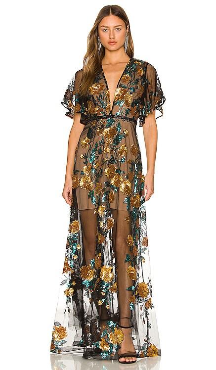 Rafaella Teal Maxi Dress Bronx and Banco $750 NEW