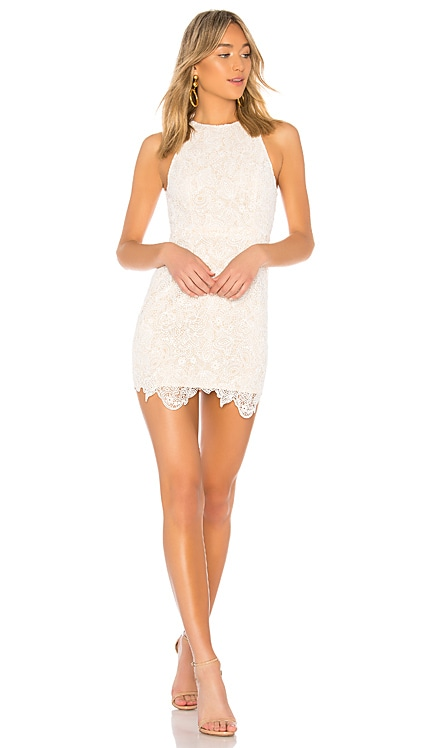 Patty High Neck Crochet Dress superdown $78 BEST SELLER