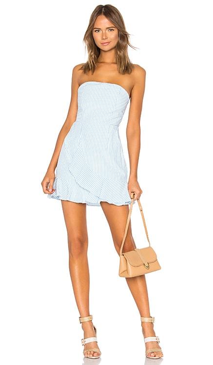 Rosalie Stripe Ruffle Dress superdown $66 BEST SELLER