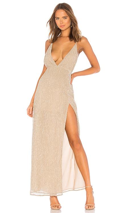 Hailee High Slit Maxi Dress superdown $78 BEST SELLER