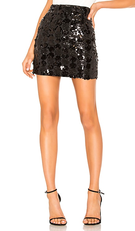 Daphne Sequin Mini Skirt superdown $48
