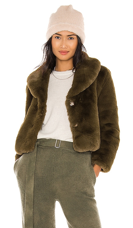 Milan Cropped Faux Fur Jacket Bubish $289