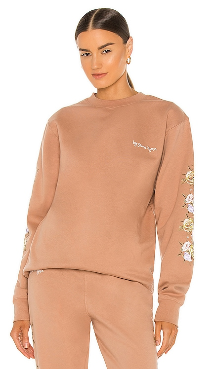 Bouquet Pigment Dyed Crewneck By Samii Ryan $76 NEW