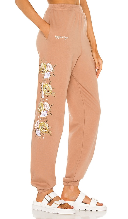 Bouquet Pigment Dyed Sweatpants By Samii Ryan $74 NEW