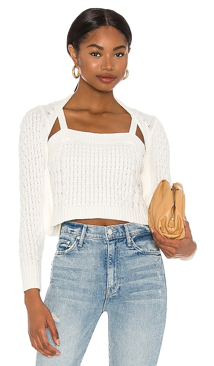 X REVOLVE Cable Knit Sweater Central Park West $196