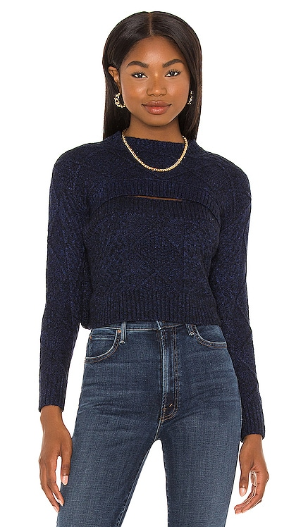 Charlize Cut-Out Sweater Central Park West $174