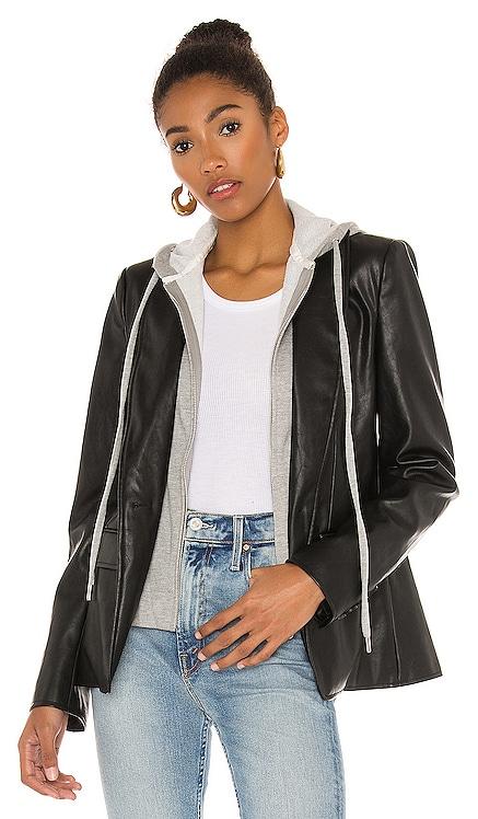 X REVOLVE Maia Faux Leather Dickey Blazer Central Park West $260