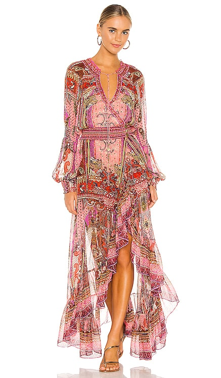 Blouson Sleeve Wrap Dress Camilla $899 BEST SELLER