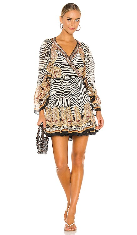 Draped Sleeve Short Dress Camilla $699