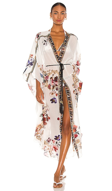 Gather Detail Layer Kimono Camilla $849 MÁS VENDIDO