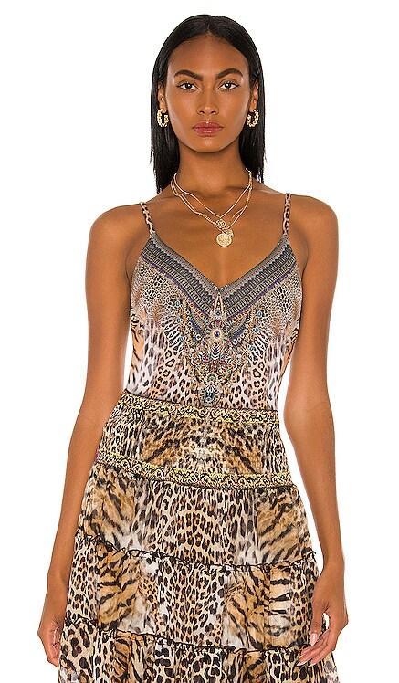 Low Back Bodysuit in Camilla $179 NEW