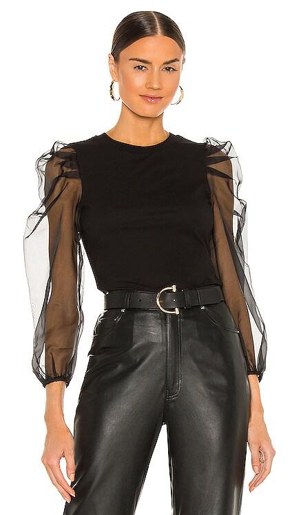 Long Sleeve Hooded Julie Tee Cinq a Sept $195 NEW