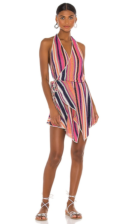Short Lurex Wrap Dress CHIO $477