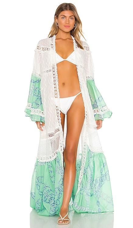Macrame And Pom Pom Long Robe CHIO $944