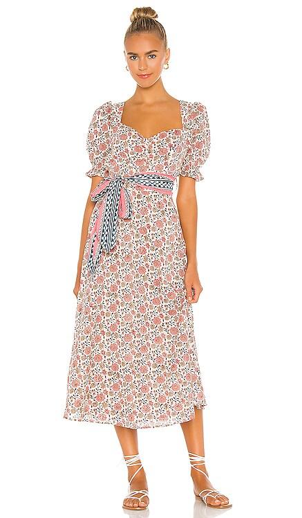 Fresia Block Midi Dress Cleobella $208 NEW