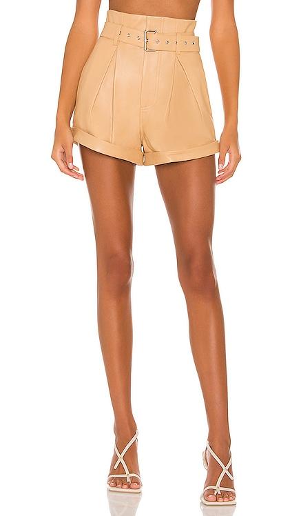 Azan Leather Shorts Camila Coelho $358 NEW