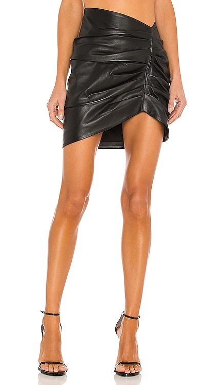 Clementine Leather Skirt Camila Coelho $358 NEW