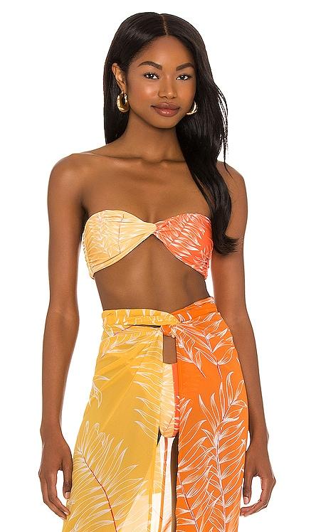 Neves Top in Orange & Yellow Camila Coelho $88 NEW