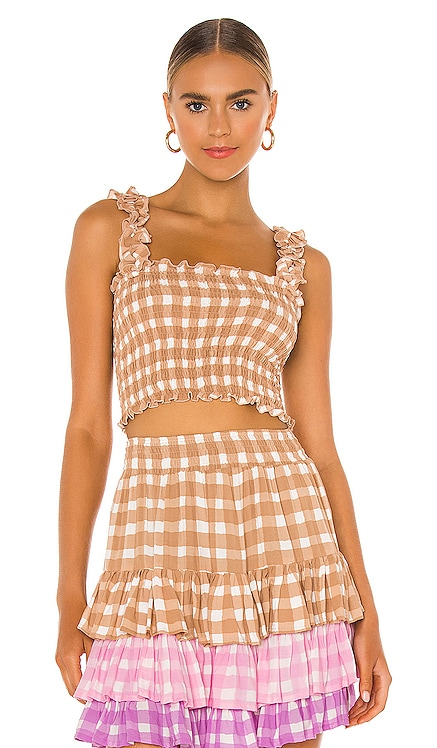 Remi Gingham Top coolchange $138