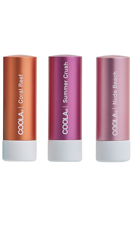 Mineral Liplux SPF 30 Organic Tinted Trio COOLA $40 NEW