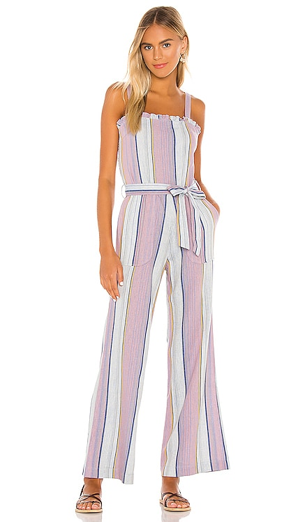 Smocked Ruffle Cami Jumpsuit Chaser $117 NEW ARRIVAL