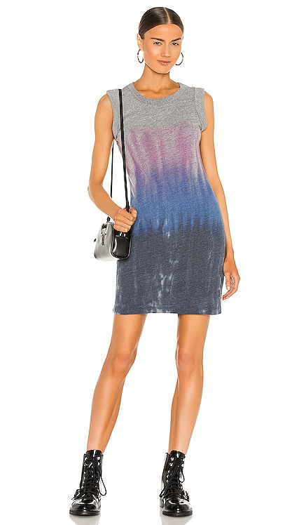Triblend Jersey Rolled Armhole Tank Dress Chaser $79 NEW