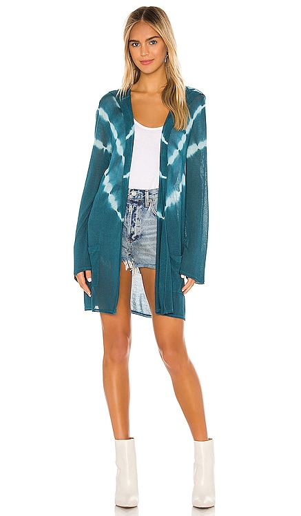 Bell Sleeve Hooded Open Tie Cardigan Chaser $99