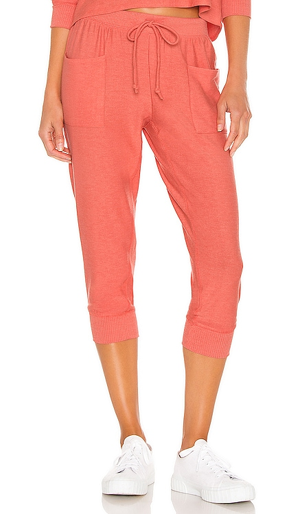 Cozy Knit Cropped Slouchy Jogger with Pockets Chaser $88