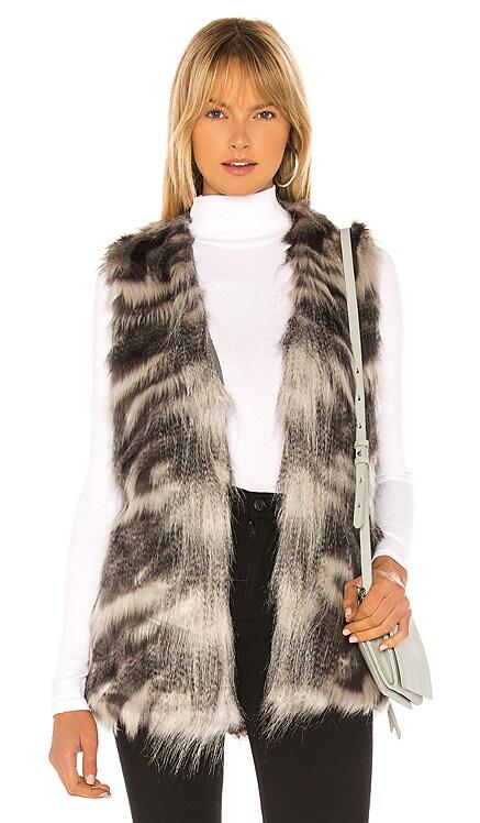 Vivianna Faux Fur Vest cupcakes and cashmere $68