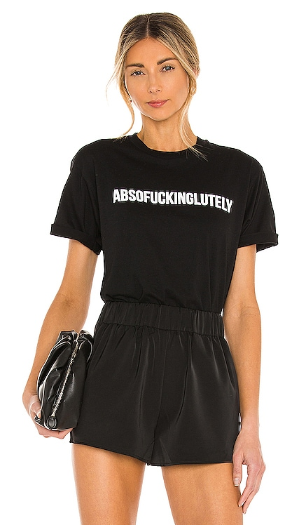 Absofuckinglutley Tee DEPARTURE $59 NEW